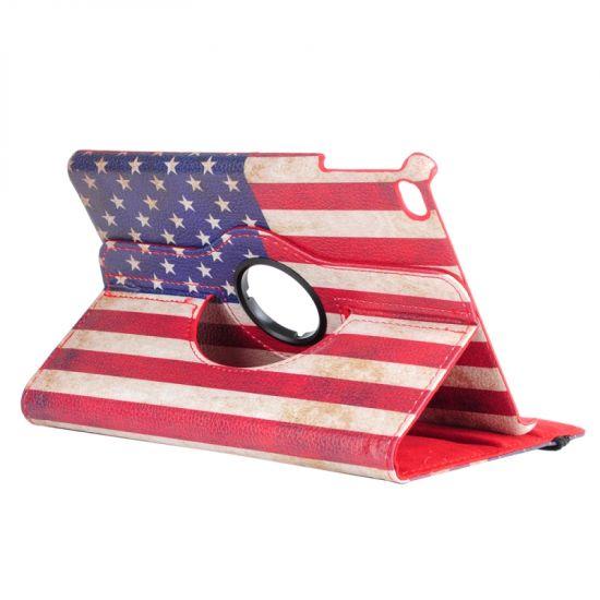 Mobigear 360 Rotating - Etui pour iPad Mini 4 (2015) - Drapeau Vintage USA