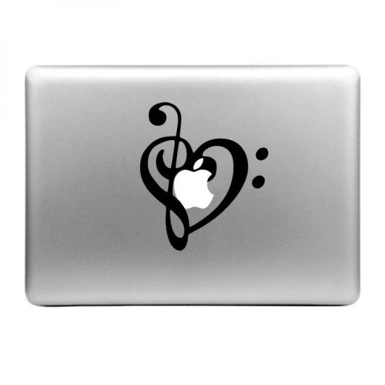 Mobigear Design - Autocollant pour MacBook Air / Pro (2008-2015) - Note musicale