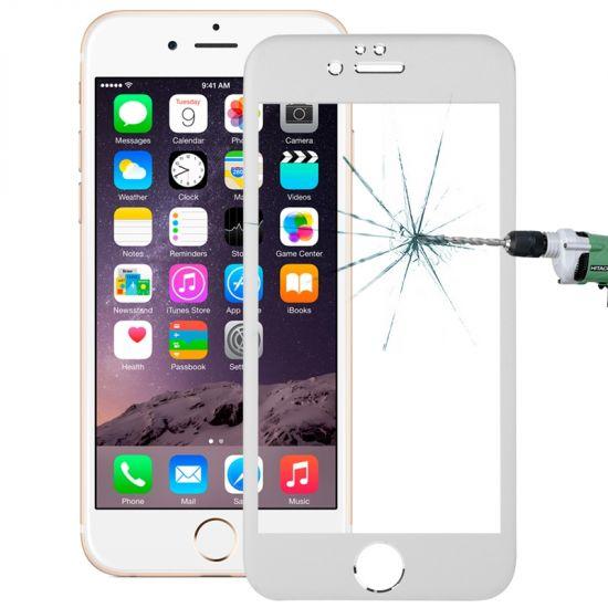Mobigear - Verre trempé Protection d'écran pour iPhone 6(s) - Argent
