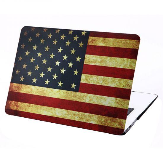 Mobigear Design - Housse en Plastique rigide pour MacBook Air 13 pouces A1369 / A1466 - Vintage US Drapeau