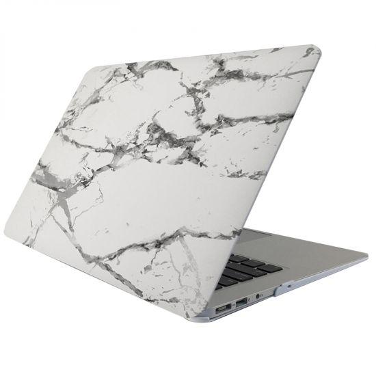 Mobigear Marble - Housse en Plastique rigide pour MacBook Air 13 pouces A1369 / A1466 - Blanc