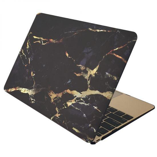 Mobigear Marble - Housse en Plastique rigide pour MacBook Air 13 pouces A1369 / A1466 - Noir / Or