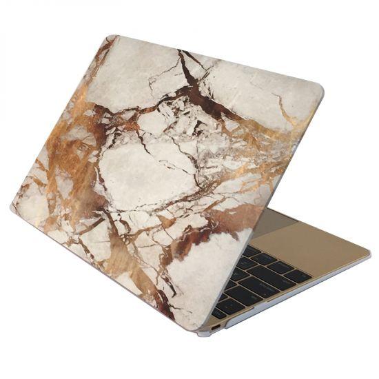 Mobigear Marble - Housse en Plastique rigide pour MacBook Air 13 pouces A1369 / A1466 - Blanc / Marron