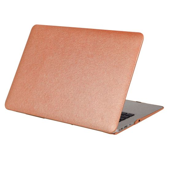 Mobigear Silk Texture - Housse en Plastique rigide pour MacBook Pro 15 pouces - Marron