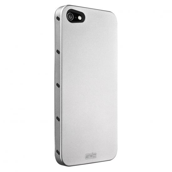 Artwizz SeeJacket - Coque arrière en Aluminium pour iPhone SE (2016) / 5S / 5 - Argent