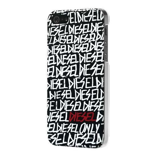 Diesel Snap - Coque arrière en Plastique rigide pour iPhone SE (2016) / 5S / 5 - Noir