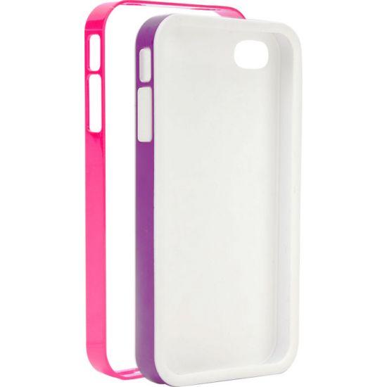 Xqisit iPlate - Coque arrière en Plastique rigide pour iPhone SE (2016) / 5S / 5 - Rose / Lilas