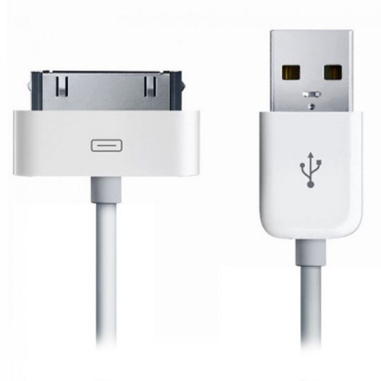 Xccess - Câble USB-A vers Apple 30-broches 2 mètres - Blanc