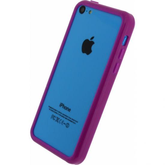 Xccess Bumper Case - Antichoc en Plastique rigide pour iPhone 5C - Lilas