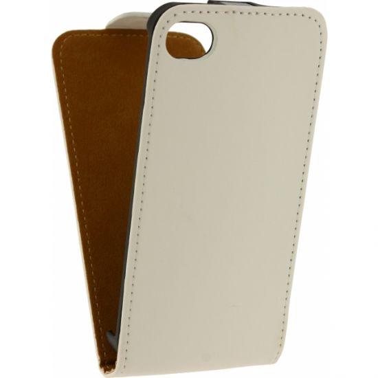 Mobilize Ultra Slim - Etui à clapet pour iPhone 4(S) - Blanc